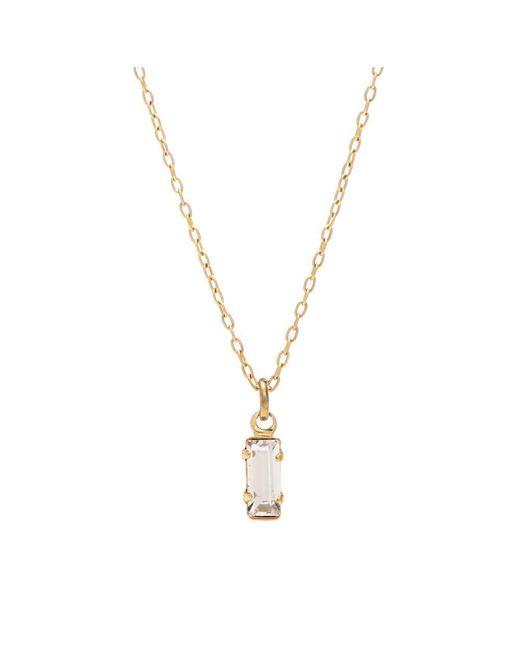 Bing Bang - Metallic Tiny Baguette Necklace - Lyst