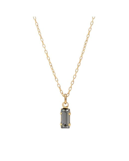 Bing Bang | Yellow Tiny Baguette Necklace | Lyst