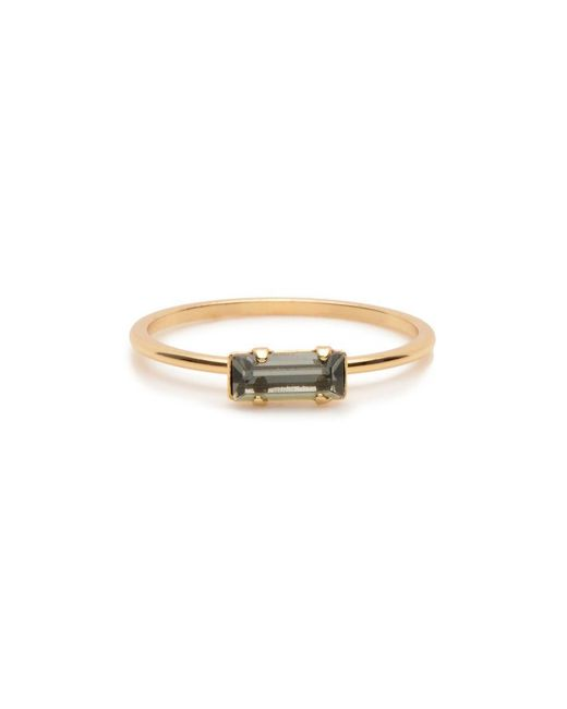 Bing Bang - Yellow Tiny Baguette Ring - Lyst