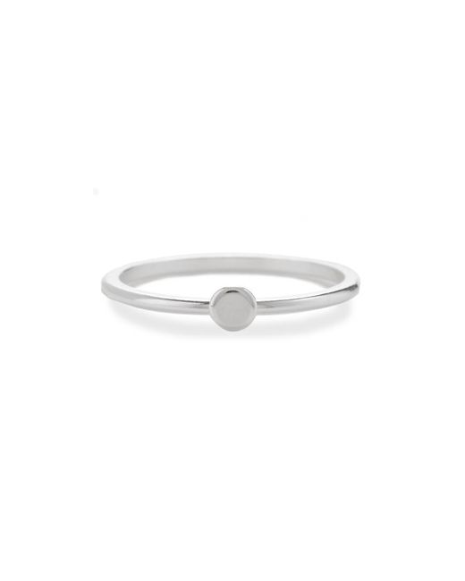 Bing Bang - Metallic Tiny Circle Ring - Lyst