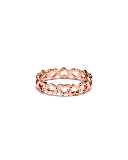 Bing Bang - Pink Eternity Heart Ring - Lyst