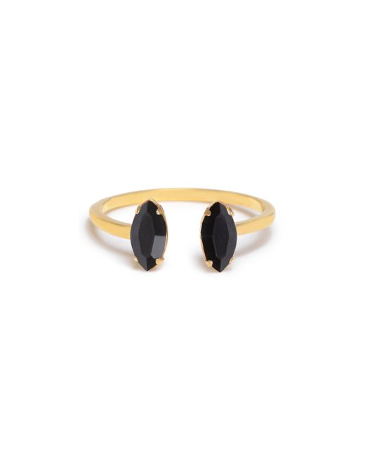 Bing Bang - Metallic Double Marquis Ring - Lyst
