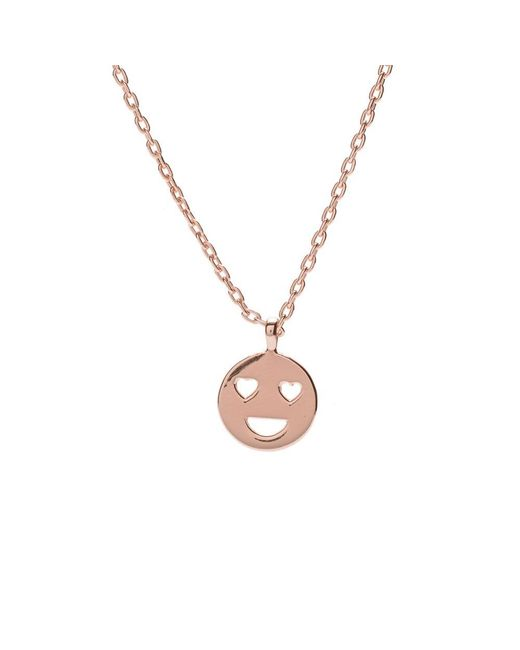 Bing Bang - Metallic Heart Eyes Necklaces - Lyst