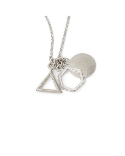Bing Bang - Metallic Geo Charm Pendant Necklace - Lyst