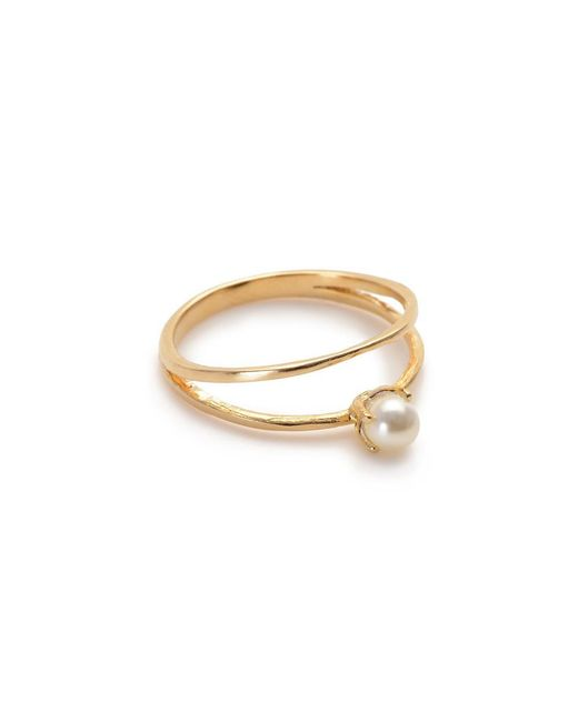 Bing Bang | Yellow Pearl Illusion Ring | Lyst
