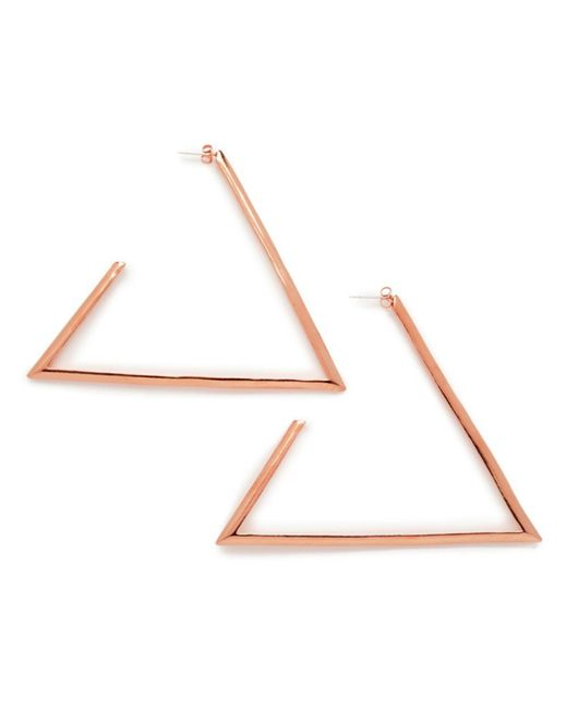 Bing Bang - Pink Large Triangle Hoops - Lyst