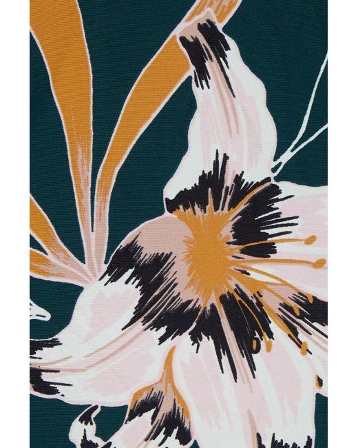 dd432830359cd ... Seafolly - Blue Aralia Tankini Top - Emerald Floral Print - Lyst