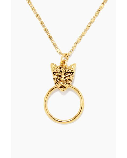 Vanessa Mooney - Metallic The Panther Necklace - Gold - Lyst