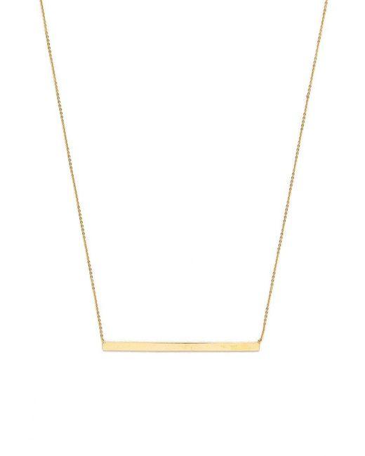 Talia Naomi - Metallic Finish Line Necklace - Lyst