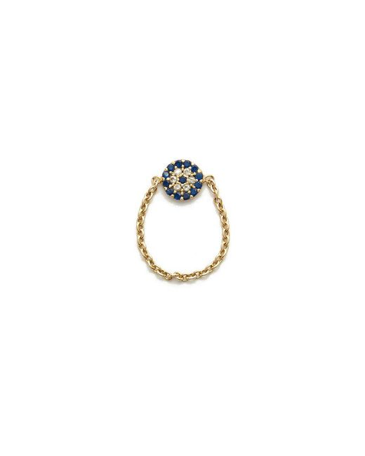 Talia Naomi - Metallic See No Evil Chain Ring - Lyst