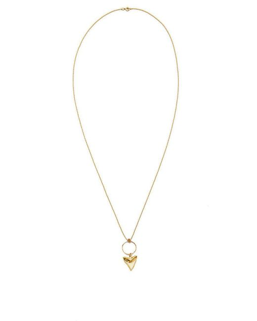 SIMONE JEANETTE | Metallic Blonde Shark Tooth Necklace | Lyst