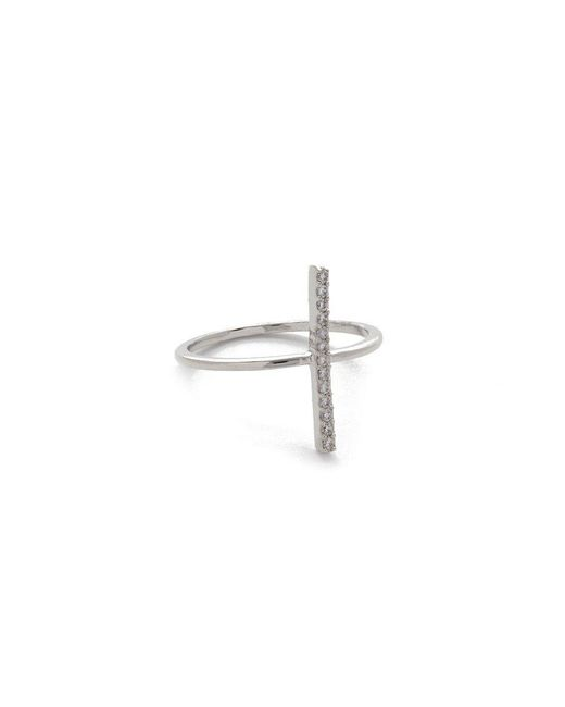 JEWEL CULT - Metallic Pave Crystal Bar Ring - Lyst
