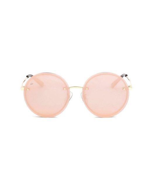 Privé Revaux - Pink The Joplin Unisex Round Sunglasses - Rose Gold - Lyst