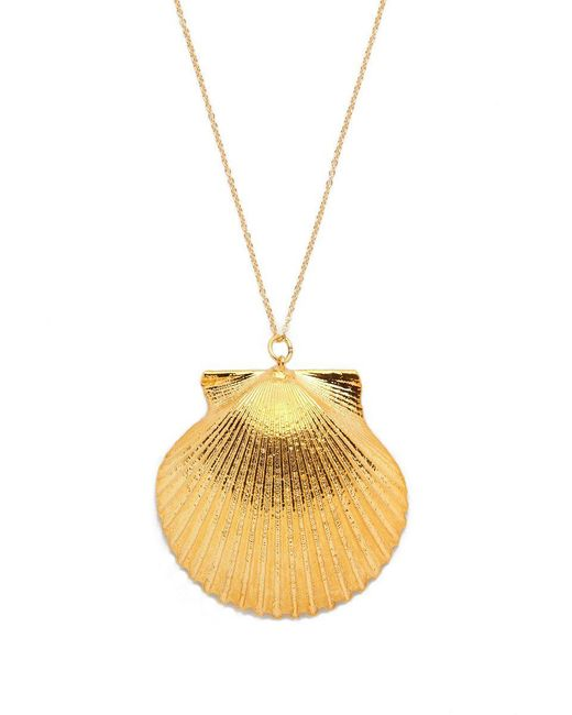 SEA DIPPED | Metallic Real Scallop Shell Necklace | Lyst