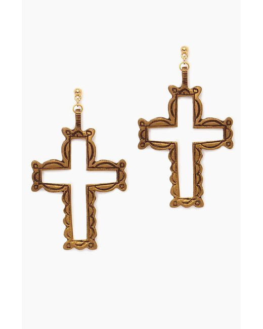 Vanessa Mooney - Metallic The Saint Asella Earrings - Gold - Lyst