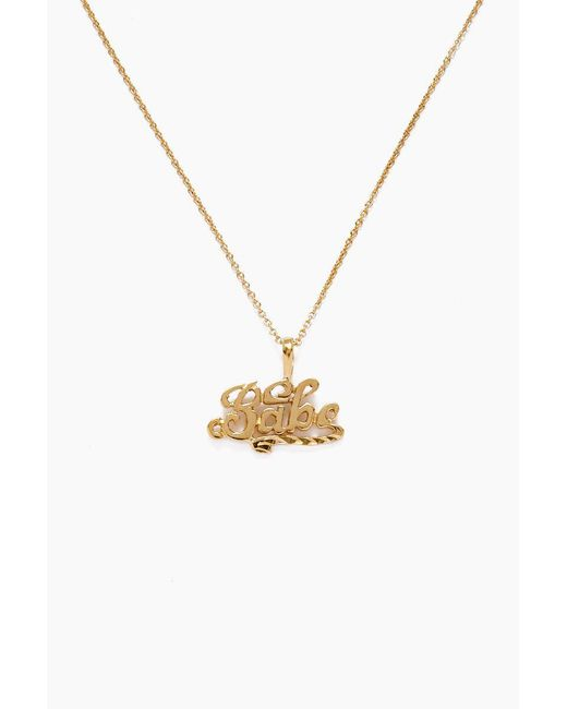 Vanessa Mooney - Metallic The Babe Necklace - Gold - Lyst