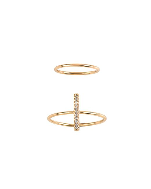 Billabong | Metallic Crossing Waves Ring Set | Lyst