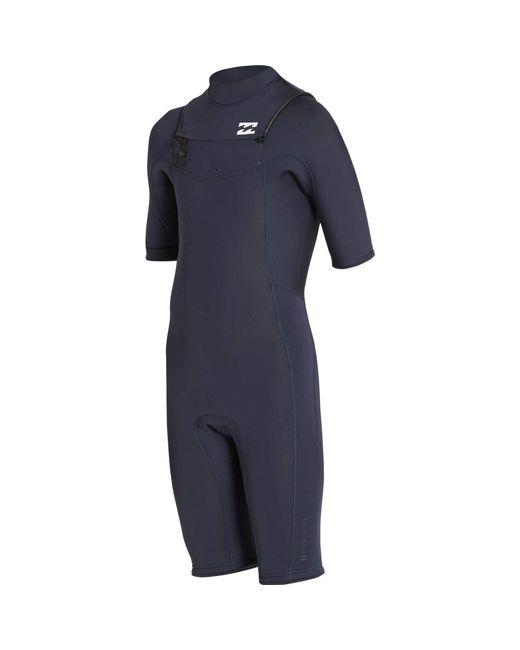 Billabong - Blue 2/2 Revolution Gbs Short Sleeve Chest Zip Springsuit for Men - Lyst