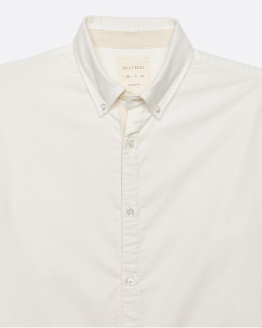 Billy Reid Brushed Twill Shirt In White For Men Lyst