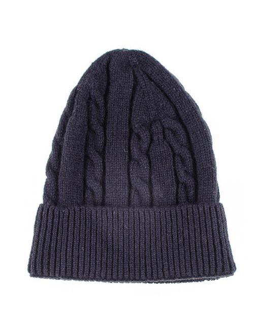 Black.co.uk Black Cable Knit Cashmere Beanie in Blue for ...