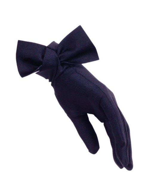 Black.co.uk - Blue Navy Bow Cocktail Gloves - Lyst