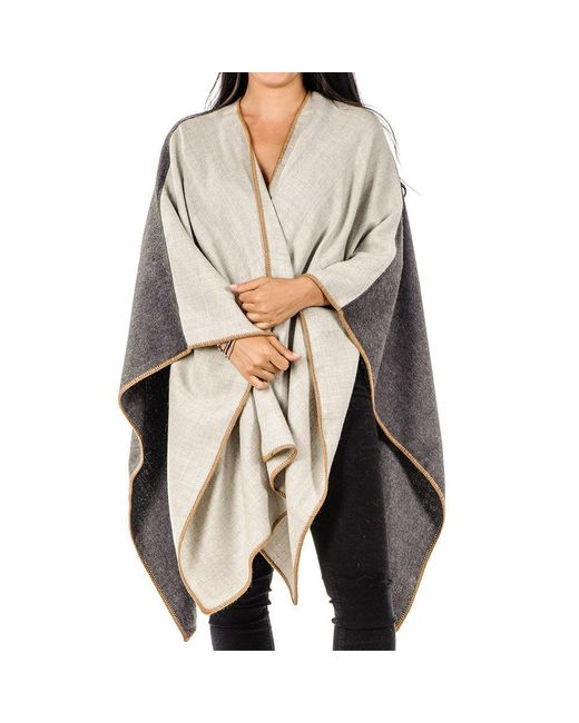 Black.co.uk - Gray Dove Grey And Charcoal Baby Alpaca Cape - Lyst