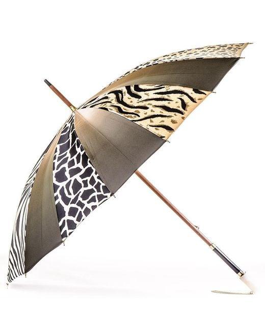 Black.co.uk | Multicolor Animal Print Italian Luxury Double Canopy Umbrella | Lyst