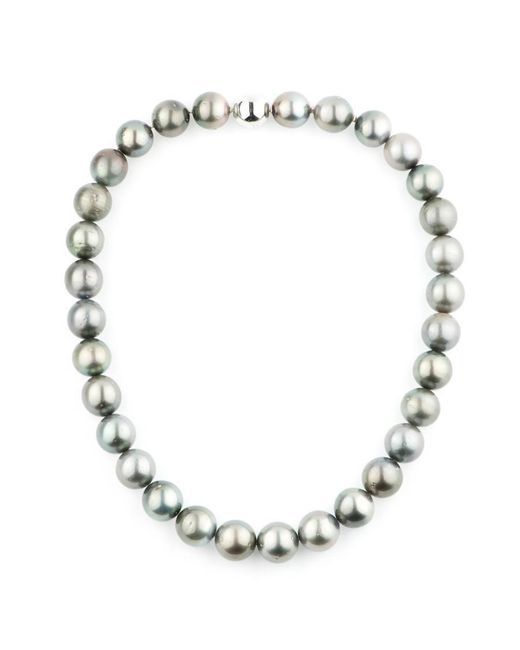 Black.co.uk - Metallic Large Round Tahitian Black Pearl Choker - Lyst
