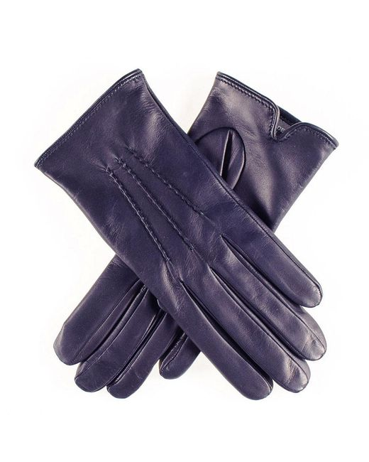 Black.co.uk - Blue Classic Navy Cashmere Lined Leather Gloves - Lyst