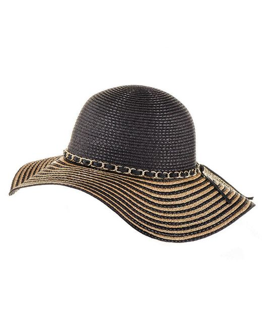 Black.co.uk | Black And Gold Striped Sun Hat | Lyst