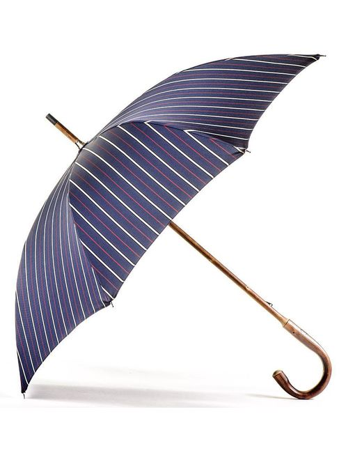 Black.co.uk | Blue Navy Red And White Stripe Luxury Umbrella | Lyst