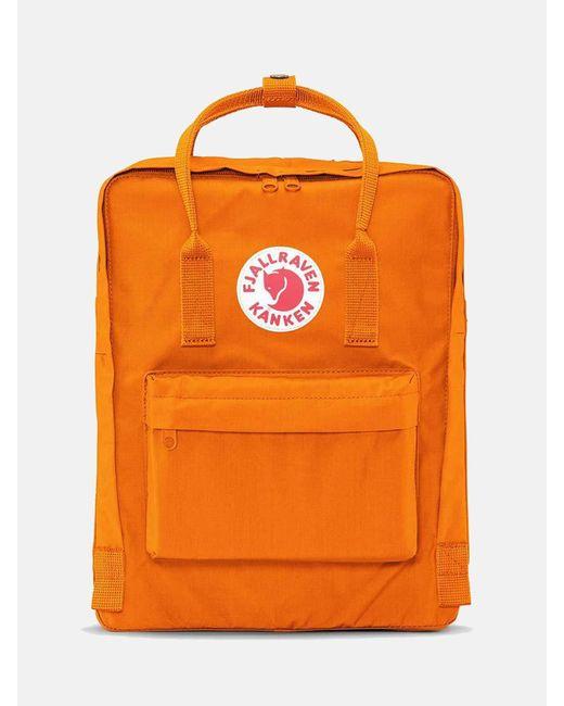 61eb99b0e Fjallraven - Orange Kanken Backpack for Men - Lyst ...