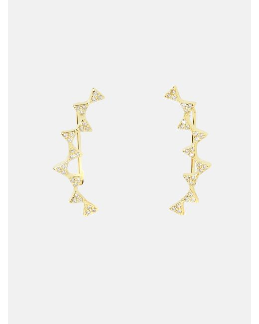 Shihara zig zag earrings - Metallic jNJba9Z73