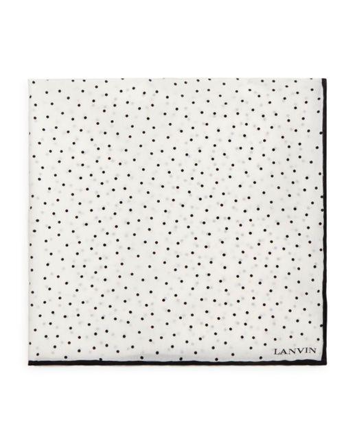 Lanvin - White Polka Dot Pocket Square for Men - Lyst