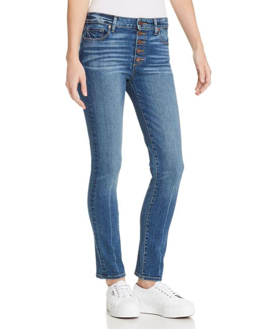 PAIGE - Blue Hoxton Ankle Peg Skinny Jeans In Salida - Lyst