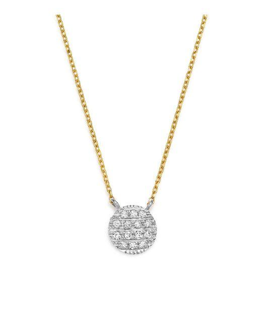 Dana Rebecca | Metallic 14k White & Yellow Gold Lauren Joy Mini Necklace With Diamonds | Lyst