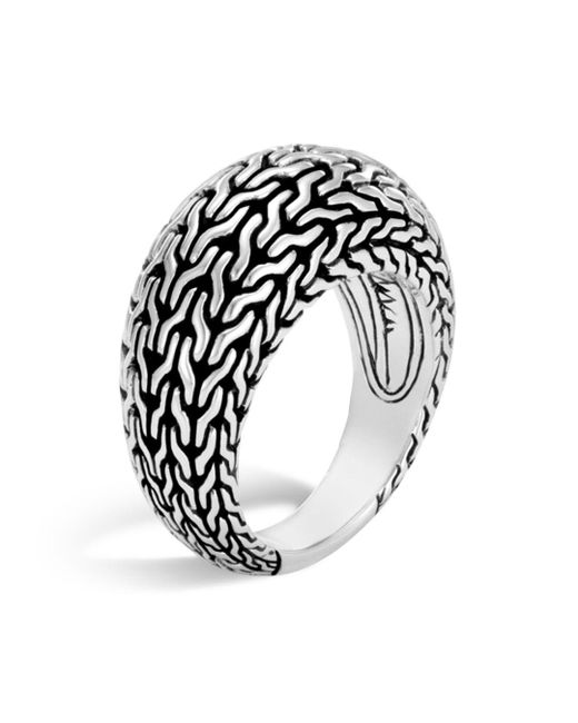 John Hardy - Metallic Sterling Silver Classic Chain Dome Ring - Lyst
