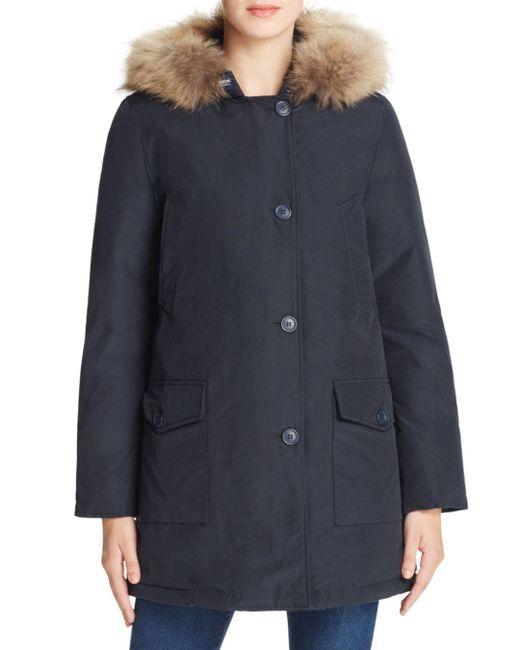 Woolrich - Blue Parka - Arctic Fur Trim - Lyst