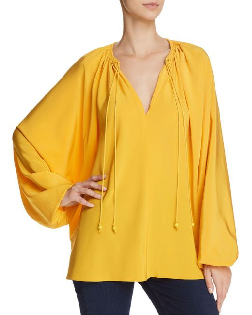 Elizabeth and James - Yellow Chance Silk Top - Lyst