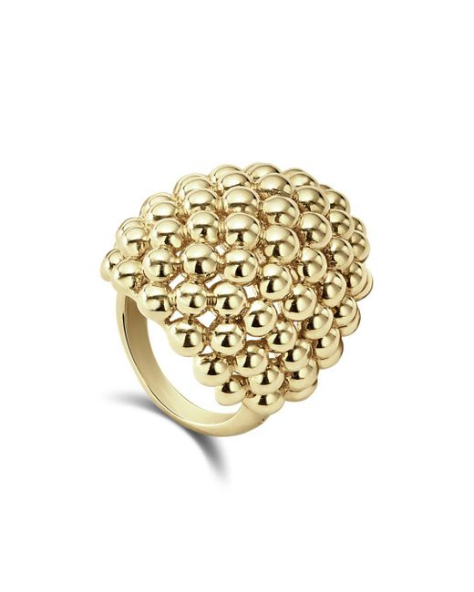 Lagos - Metallic 18k Caviar Gold Dome Statement Ring - Lyst