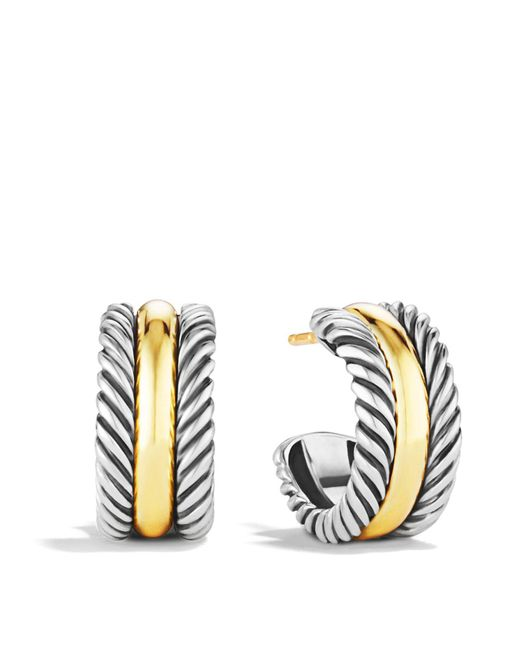 David Yurman | Metallic Cable Classics Hoop Earrings With Gold | Lyst