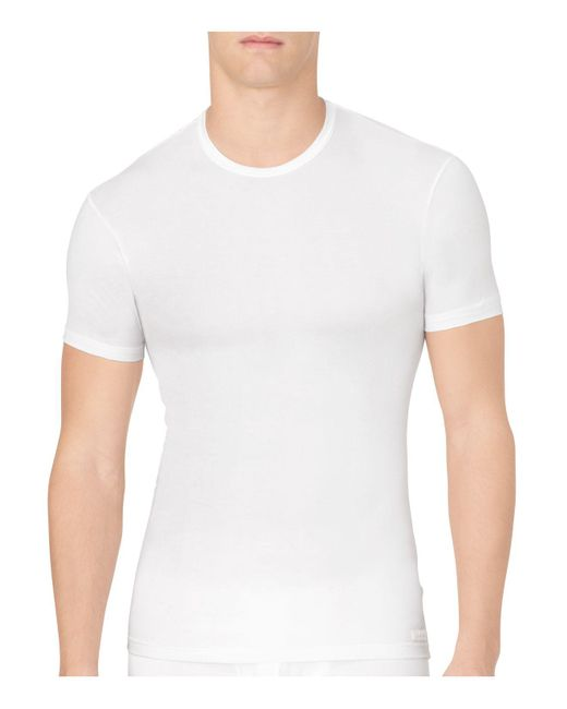 Calvin Klein | White Body Modal Crew Neck Tee for Men | Lyst