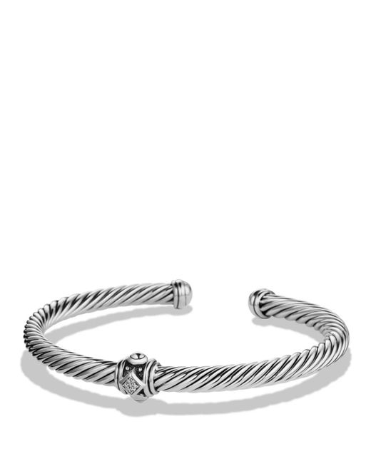David Yurman - Metallic Renaissance Station Bracelet With Diamonds - Lyst