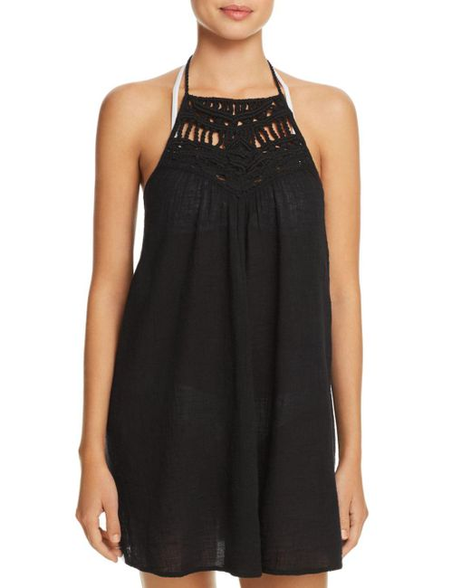 Ralph Lauren - Black Macramé Dress Swim Cover-up - Lyst