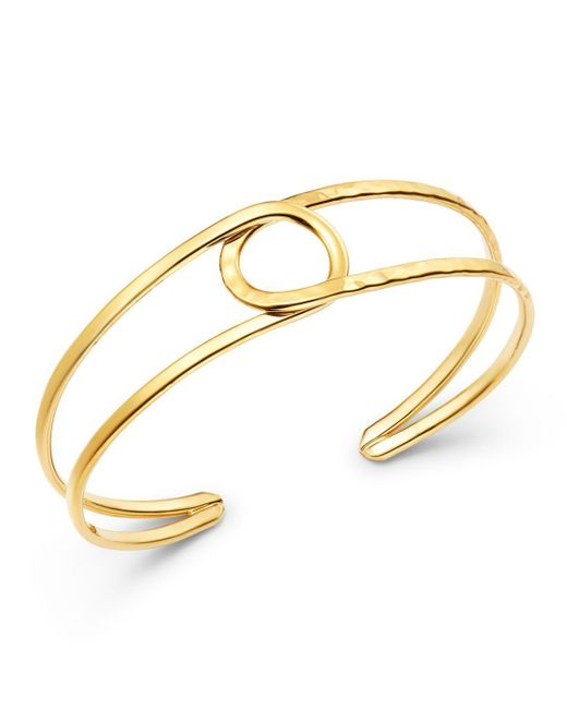 Bloomingdale's Metallic 14k Yellow Gold Circle Cuff