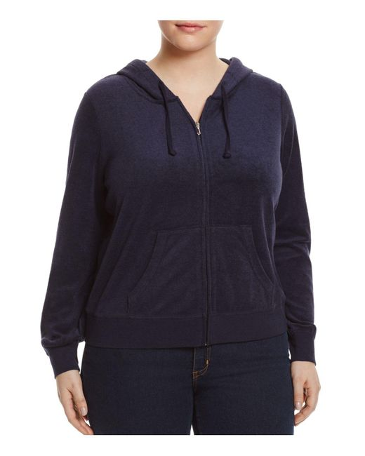 Juicy Couture - Blue Juicy Couture Black Label Robertson Microterry Zip Hoodie - Lyst