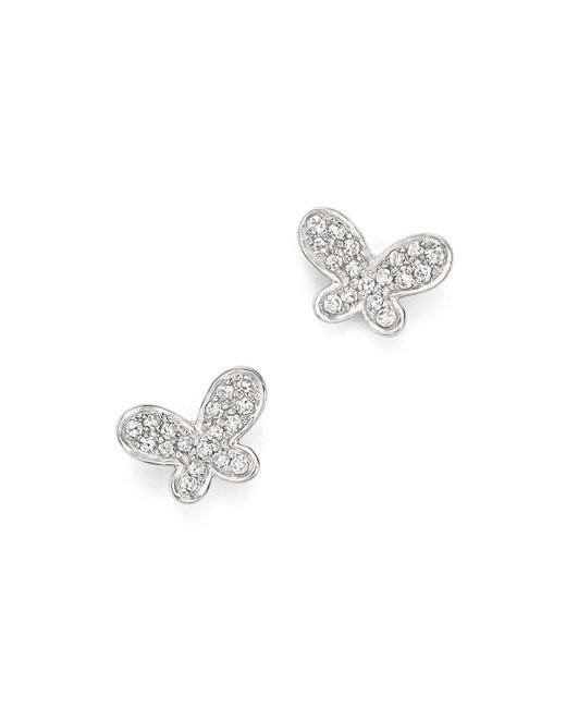 KC Designs | Metallic Diamond Butterfly Stud Earrings In 14k White Gold | Lyst