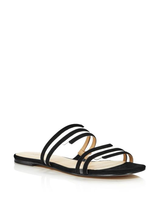 Botkier - Black Women's Maisie Suede Illusion Slide Sandals - Lyst