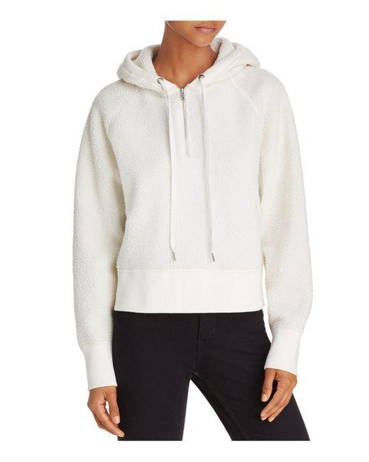 Rag & Bone | White Fleece Hoodie Pullover | Lyst