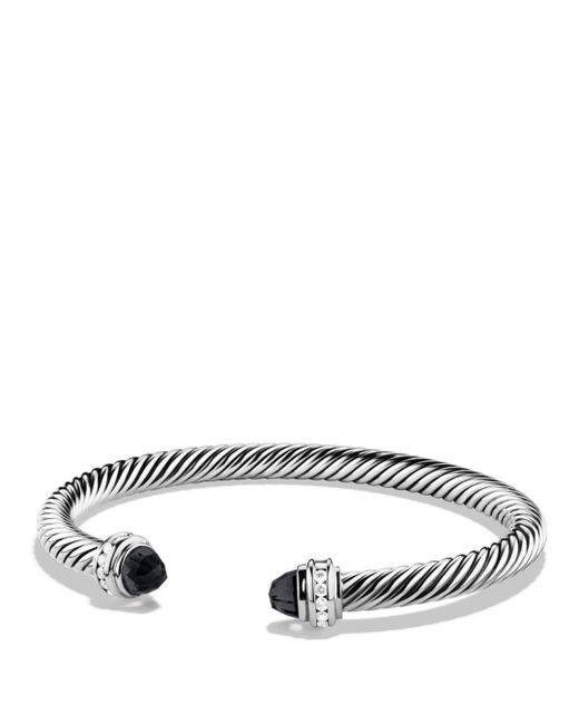 David Yurman - Metallic Cable Classics Bracelet With Diamonds - Lyst